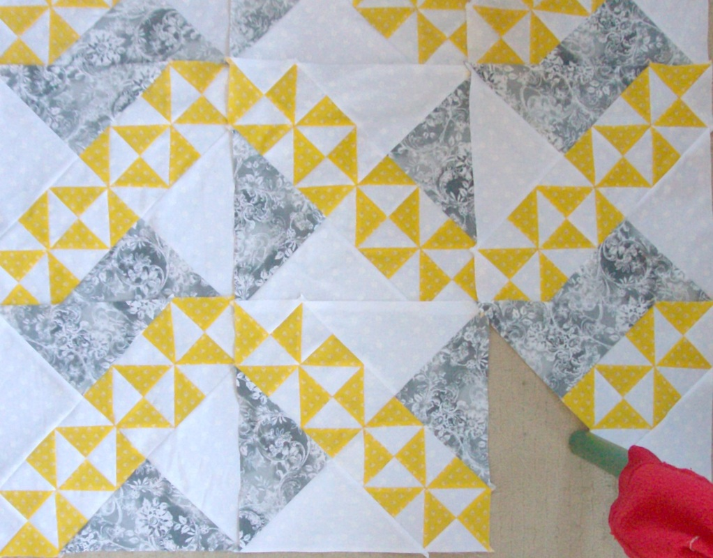 Larger picture of optio three for starry path quilt.