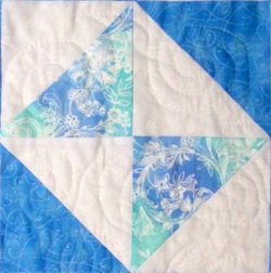 Quilting Blog - Double Square quilt block from
