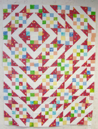 One design from Sunny Lanes quilt block made by Homesewn by Carolyn