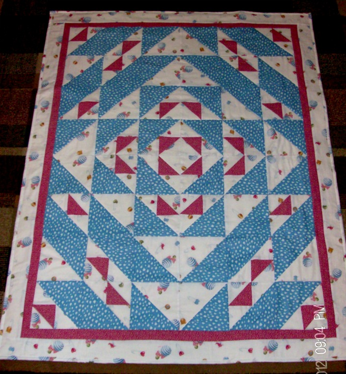 Little Boy Blue Baby Quilt by Homesewn By Carolyn