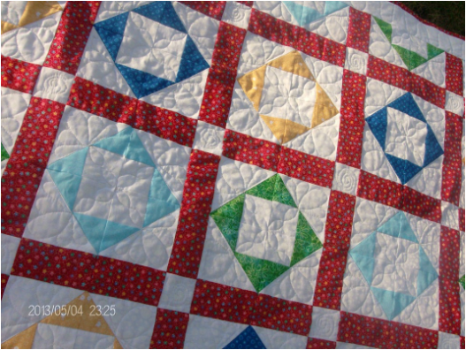 Handmade Baby Quilt for sale by Homesewn by Carolyn.