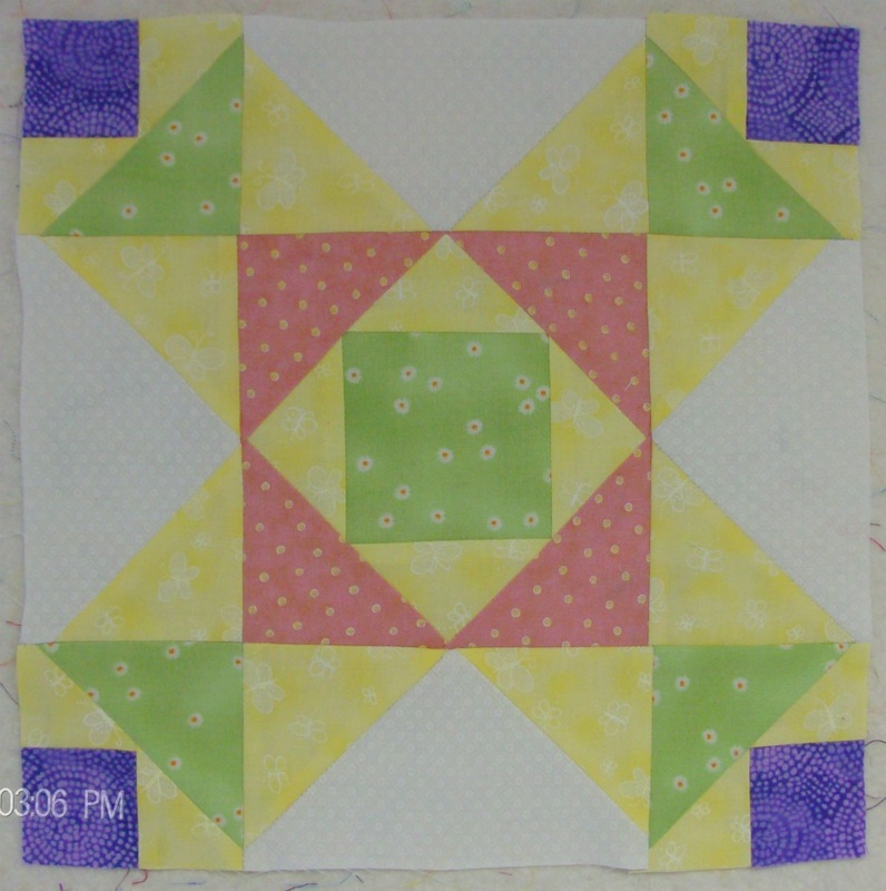 White Hemstitch Pattern block by Homesewn by Carolyn