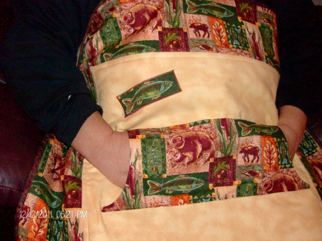 Bear Lap Quilt with Pockets by Home Sewn By Carolyn