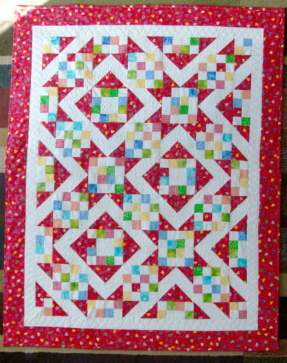 Sunny Lanes Baby Quilt for sale by Homesewn by Carolyn