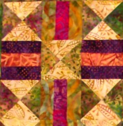 Chain and Hourglass Quilt Block.