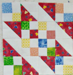 Sunny Lanes quilt block from