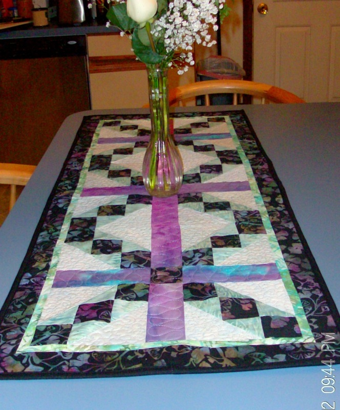 Buffalo Ridge Table Runner by Homesewn By Carolyn, a Judy Hopkins pattern