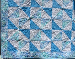 This is an adorable little boy baby quilt.