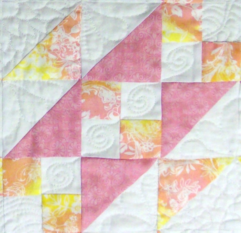 Quilt Blog showing Steps to the Alter quilt block.