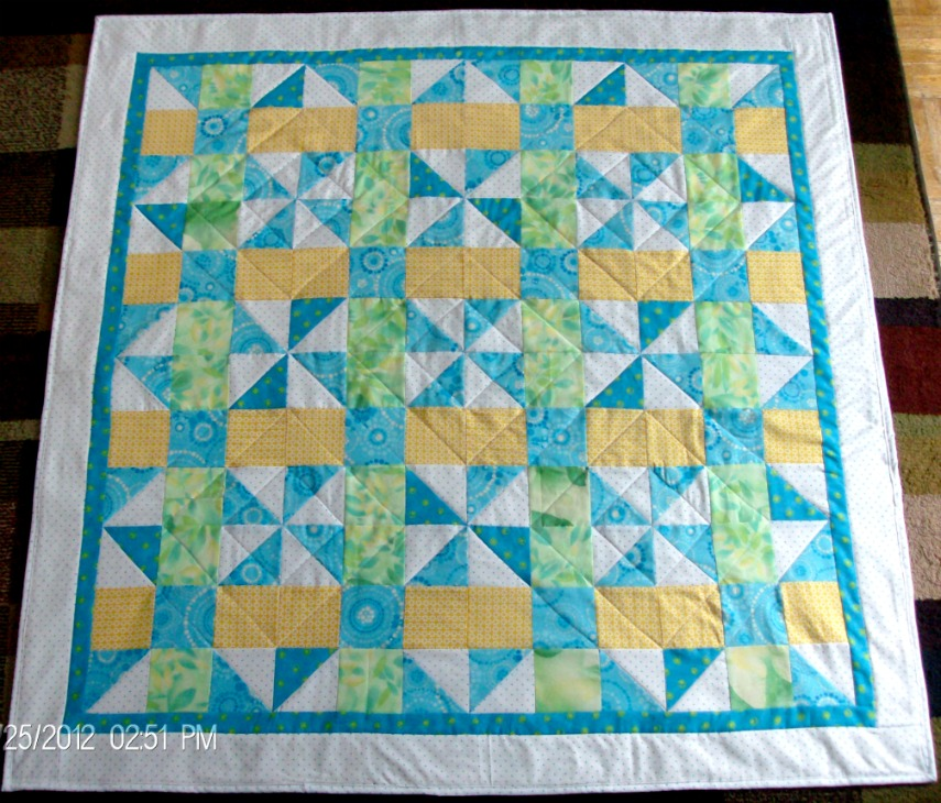 A Taste of Spring Quilt by Homesewn by Carolyn, baby or lap quilt