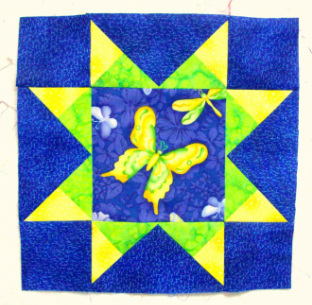 Army Star Quilt Block from