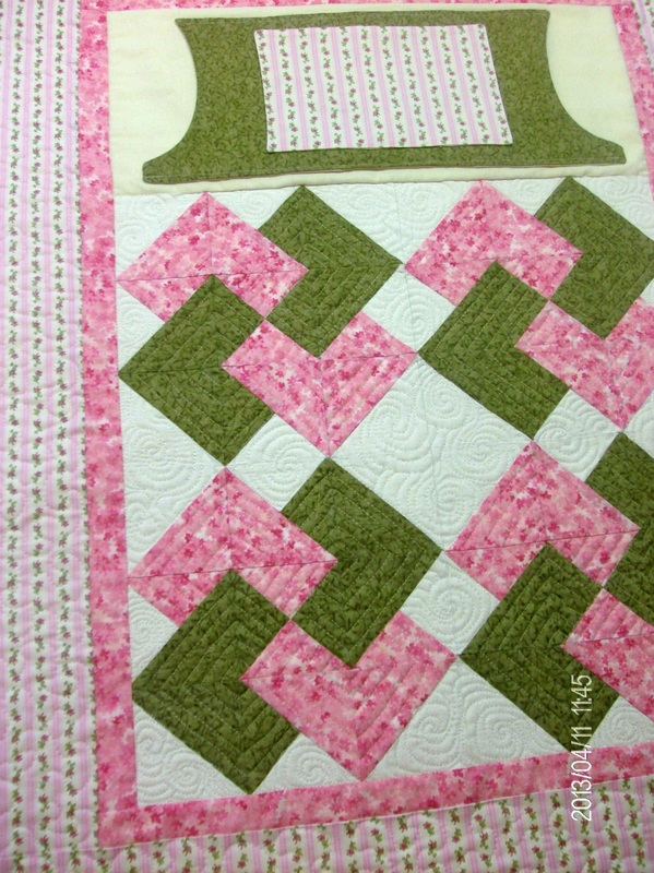 Quilting Blog turning the Card Tric quilt lock into a