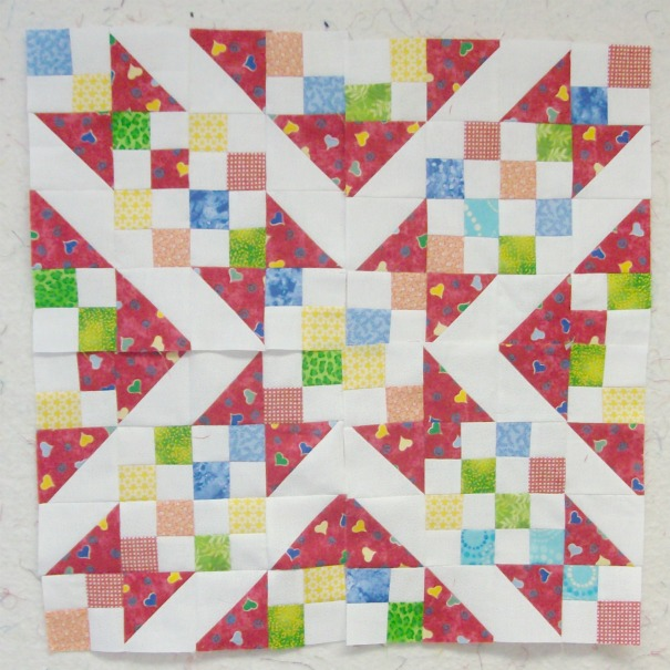 Sunny Lanes quilt block by Judy Hopkins made by Homesewn by Carolyn