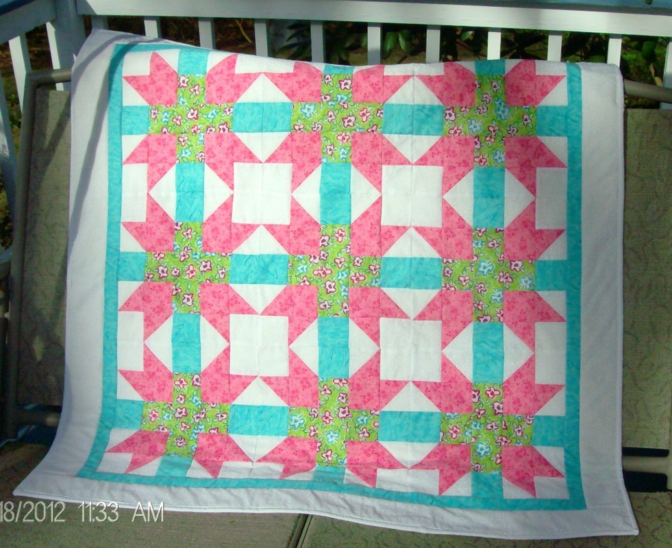 Hearth and Home Baby Quilt for sale from Homesewn by Carolyn