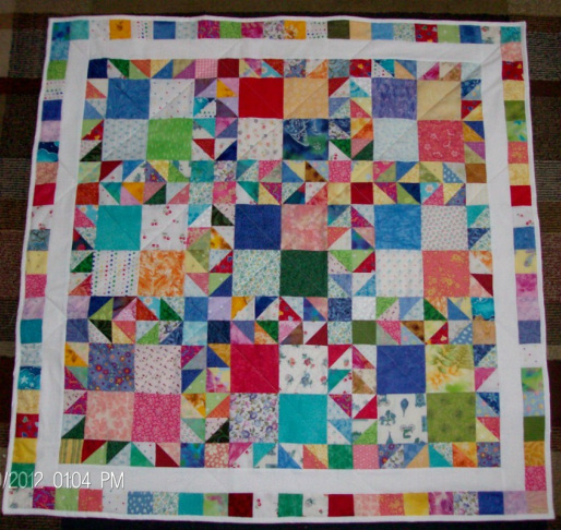 Crow's Foot Scrap Quilt for sale by Homesewn by Carolyn