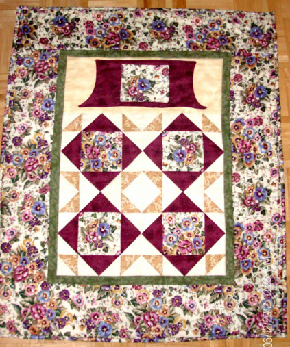 Sold Pansy Lovie Lap Quilt
