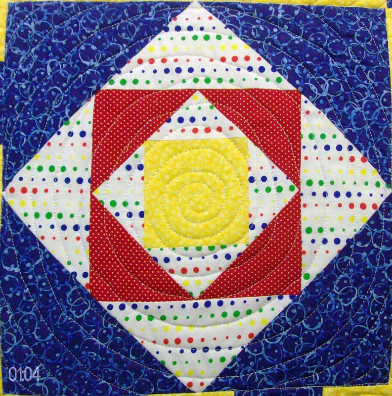 Square on Square quilt bock