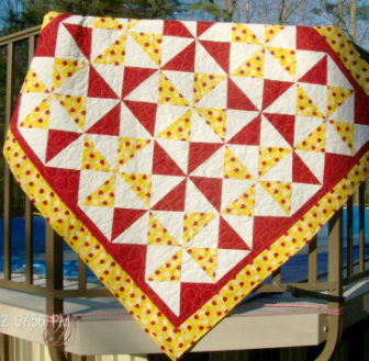 Red and Yellow Ladybug Quilt for sale by Homesewn by Carolyn on my blog