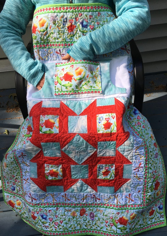 Handmade Lap Quilt with Pockets, great for wheelchairs from http://www.HomeSewnByCarolyn.com