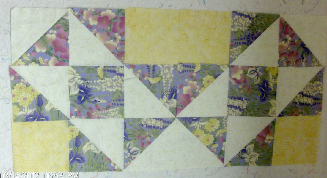 Split Nine Patch Quilt Block by Homesewn by Carolyn