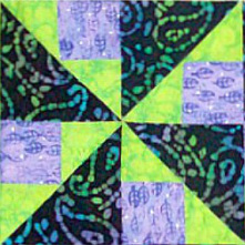 Brave World Quilt Block from