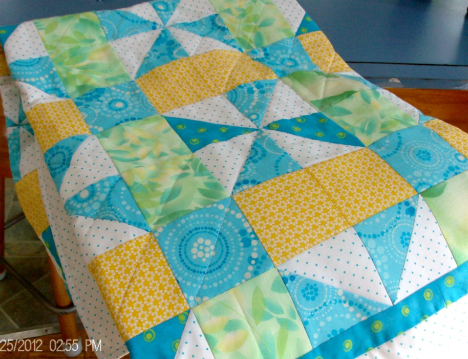 A Taste of Spring Baby Quilt by Homesewn by Carolyn