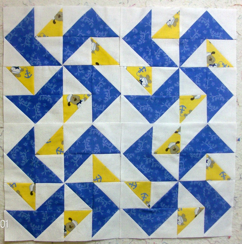 Blogging about Yankee Puzzle quilt block.