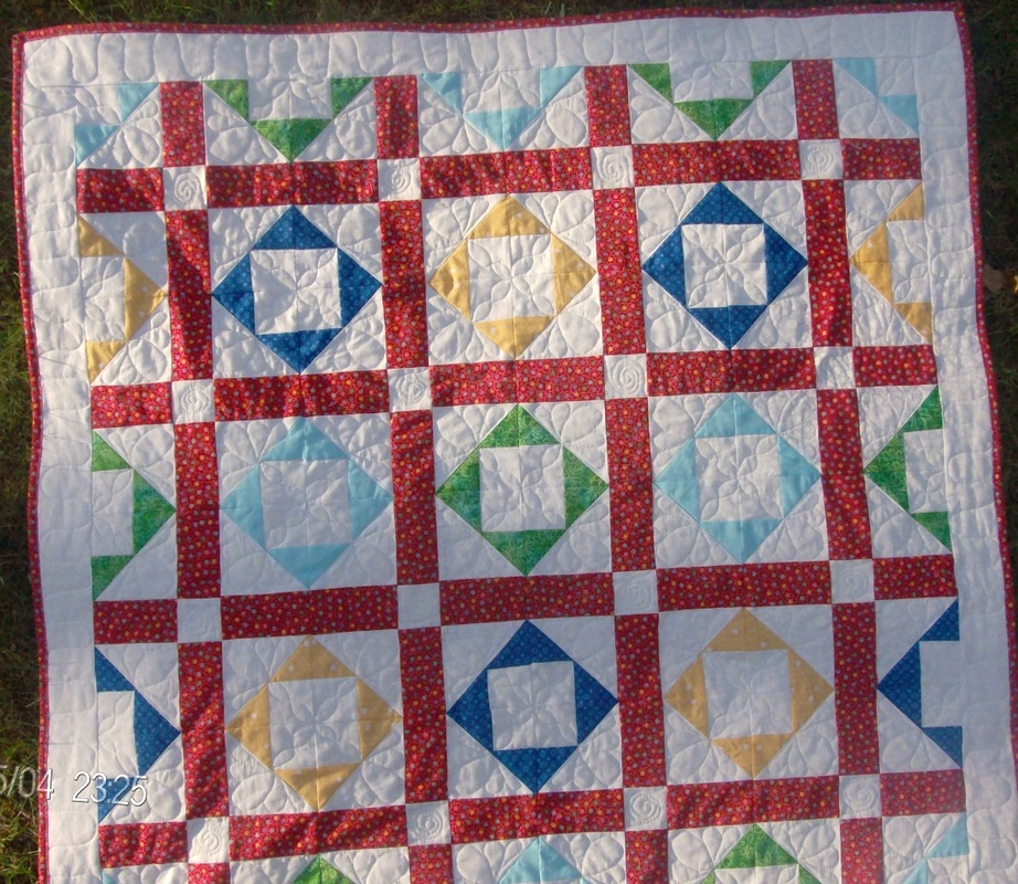 Cross within a Cross Baby Quilt