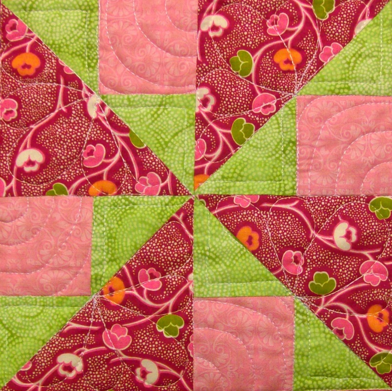 Spinner quilt block by