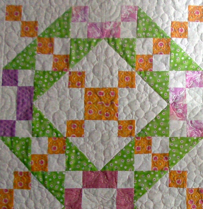 quilting blog about four quilt blocks of the Underground Quilt block.