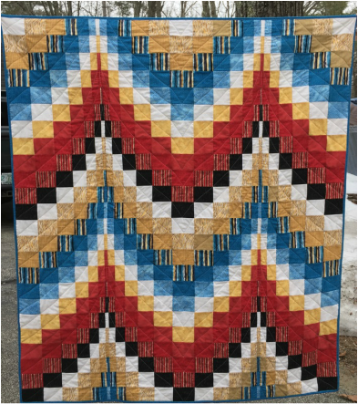 Native American Bargello Quilt from http://www.homesewnbycarolyn.com