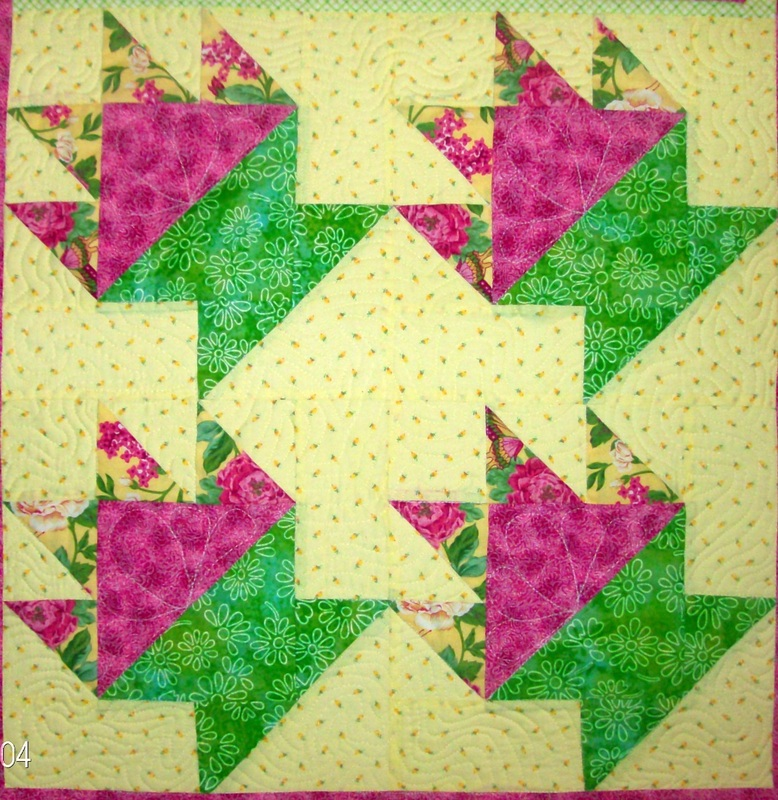 Carolyn's Homesewn Quilting Block - Four Quilt Blocks of the Cake Dish Quilt Pattern.