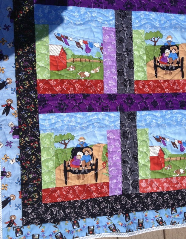 Amish Living quilt from http://www.homesewnbycarolyn.com