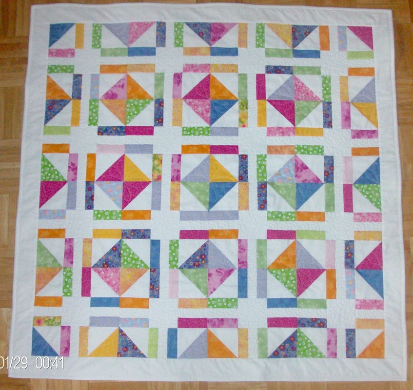 Friendship Quilt Baby Quilt, colorful, great for baby.