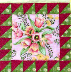 Framed Squares quilt block from Judy Hopkins book,
