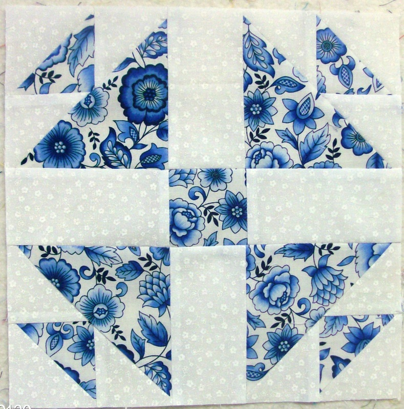 Quilting Blog about the Whirling Five Patch quilt block from