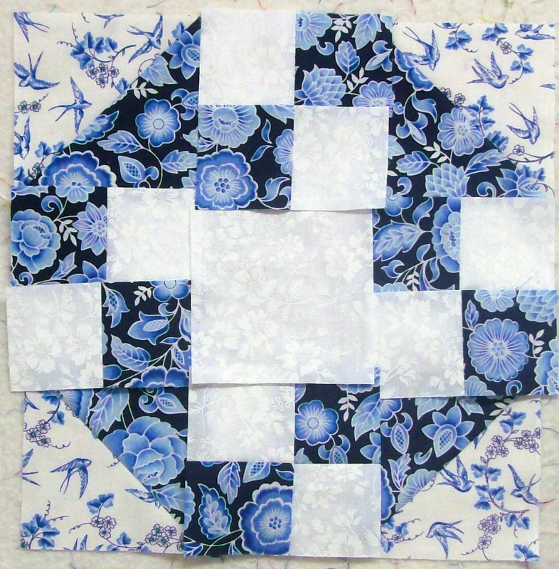 Homesewn by Carolyn quilting blog, true blue quilt block first attempt.