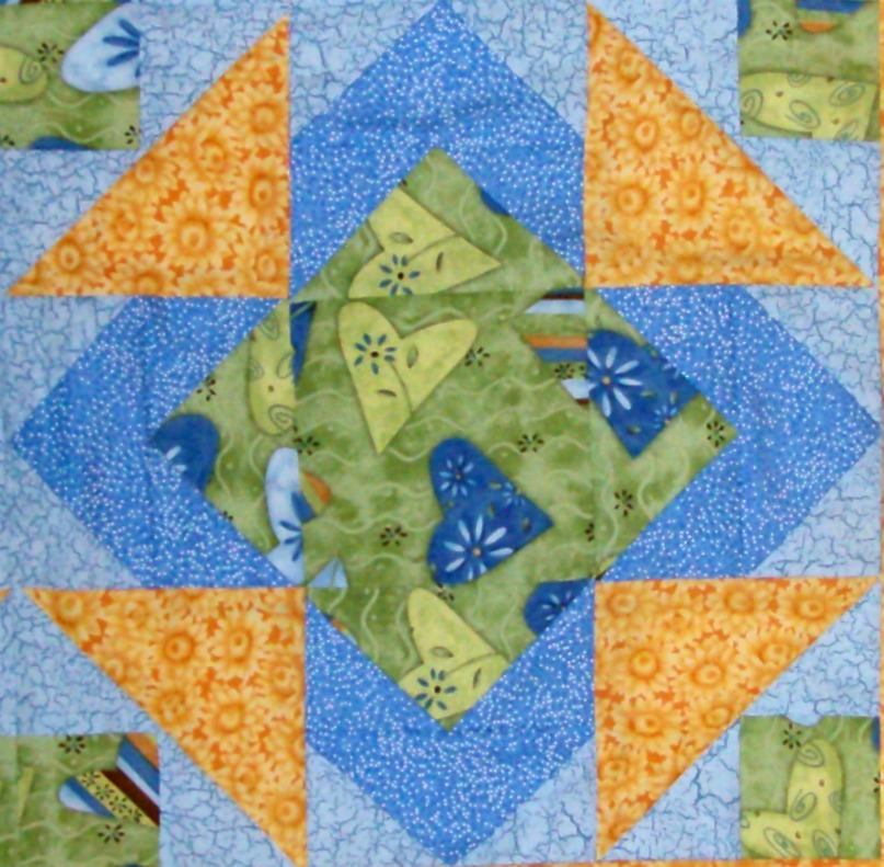 Number 22, Puss in the Corner quilt block from