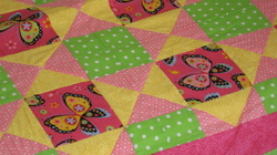 Quilt for sale, twin size, girls butterfly quilt.