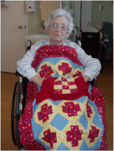 My Grandmother loves her Lovie Lap Quilt!