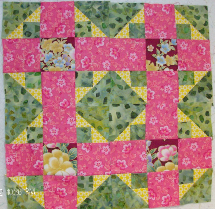 Four Album quilt blocks by Homesewn by Carolyn