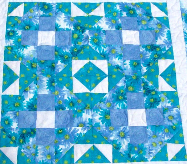 When you place four quilt blocks together, you create a secondary quilt pattern.