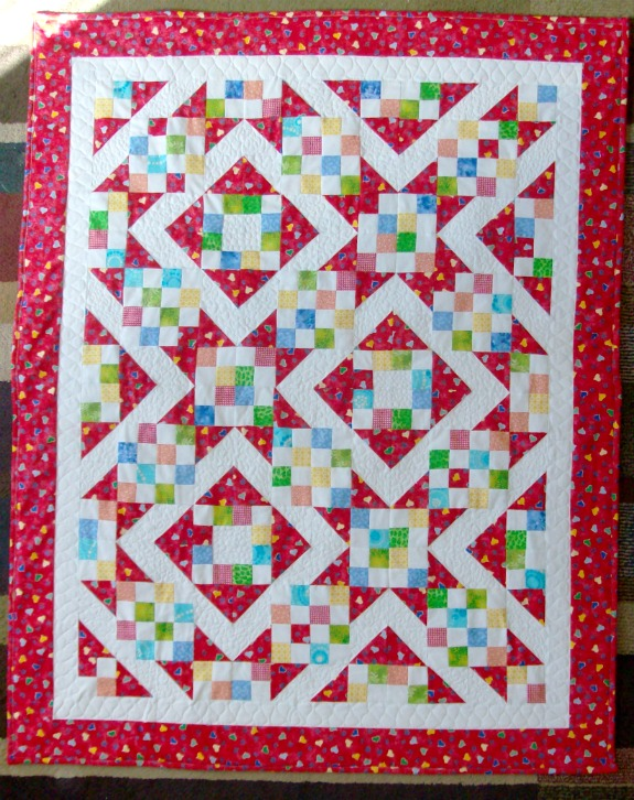 Sunny Lanes Quilt Block from Around the Block with Judy Hopkins
