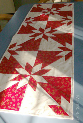 Hot Flash Christmas Table Runner.