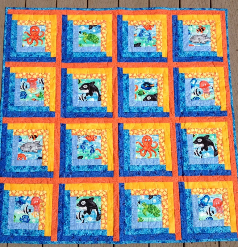 Sea Creatures baby quilt from http://www.homesewnbycarolyn.com