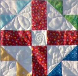 Cross with a Cross Quilt Block from http://www.homesewnbycarolyn.com/blog