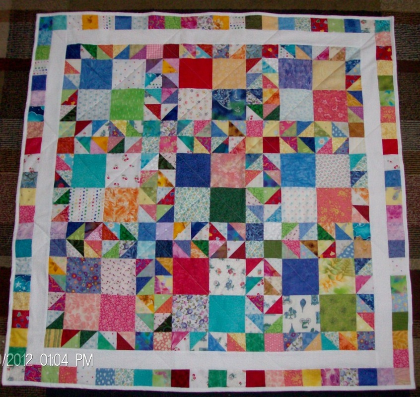 Crows Foot Scrap Quilt