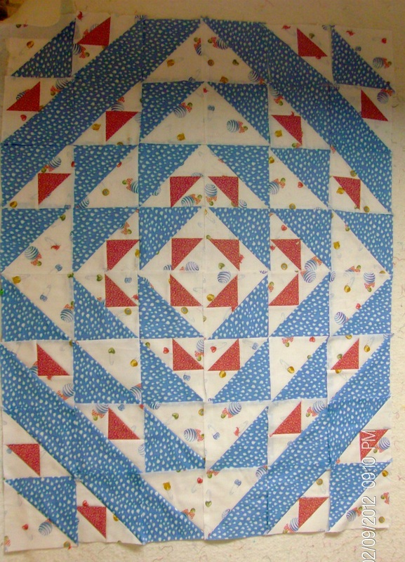 Aircraft block by Judy Hopkins, sewn b Homesewn by Carolyn