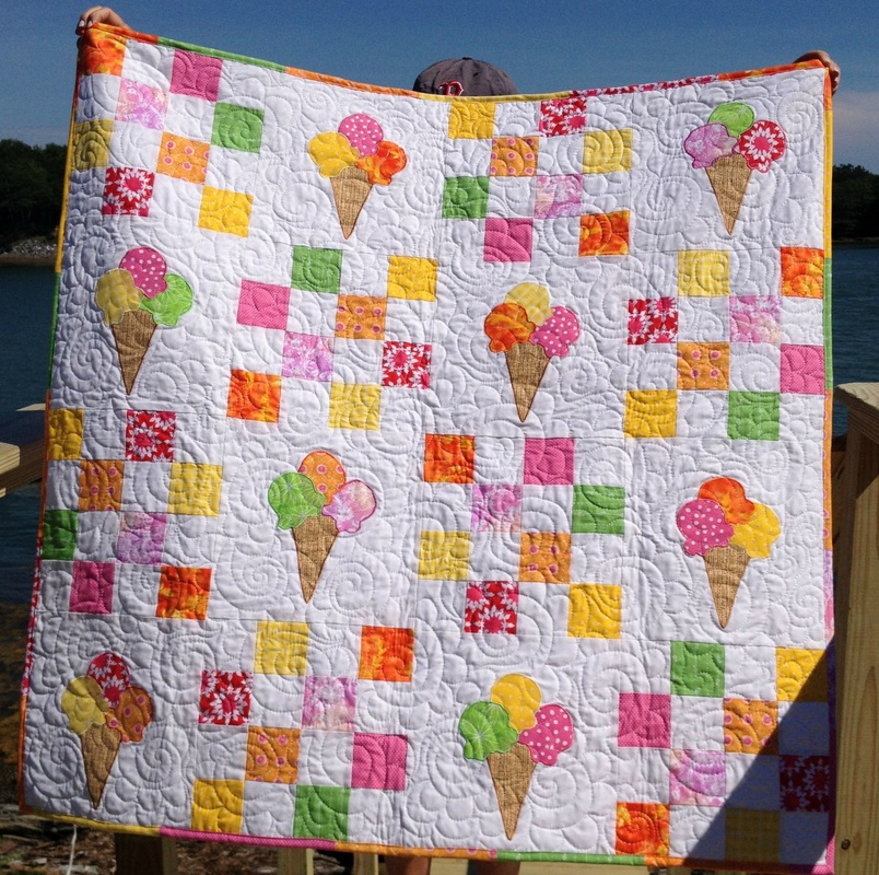 Ice Cream quilt by http://www.homesewnbycarolyn.com