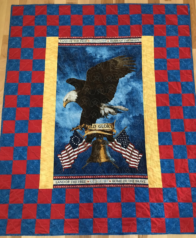 Old Glory Quilt from http://www.HomeSewnByCarolyn.com